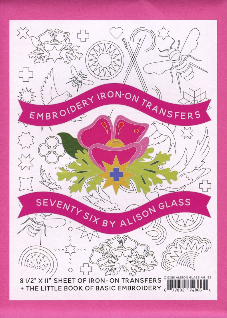 Alison Glass Embroidery Iron-On Transfers  Seventy Six image 0