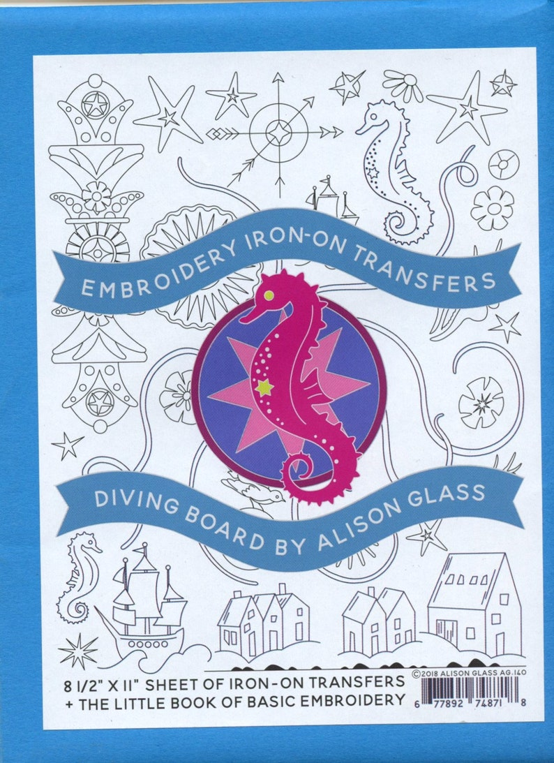 Alison Glass Embroidery Iron-On Transfers  Diving Board image 0
