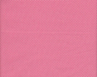 Sold by the Half Yard - Lecien Color Basic Mini Dot in Red on Pink
