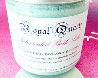 Mint & Menthol Bath Salts . Self Care, sore muscle relief bath soak . Birthday Day Gift . Fall Autumn 2021