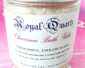 Charisma Bath Salts . Uplifting citrus scent, a great soak . Birthday Day Gift . Fall Autumn 2021