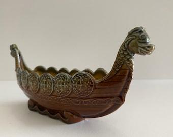 Wade Porcelain, Viking Ship Long Boat, Made in England, Trinket Dish or Small Planter