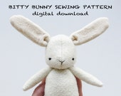 sewing pattern | bitty bunny | soft toy pdf pattern digital download