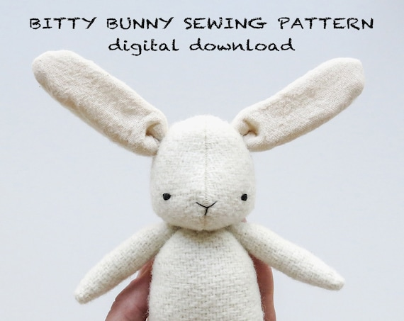 sewing pattern | bitty bunny | soft toy pdf pattern digital download