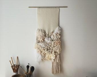 pause | handwoven statement wallhanging art weaving