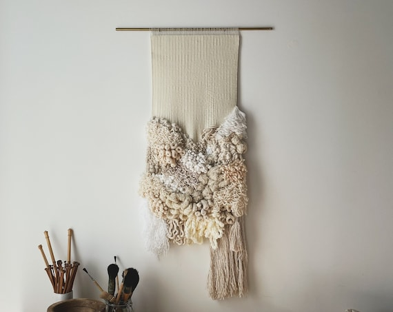 pause | handwoven statement wallhanging art weaving