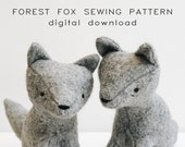 sewing pattern | forest fox | soft toy pdf pattern digital download