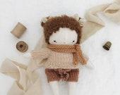 handmade cloth doll, fabric doll, linen baby doll, little girl doll, heirloom doll