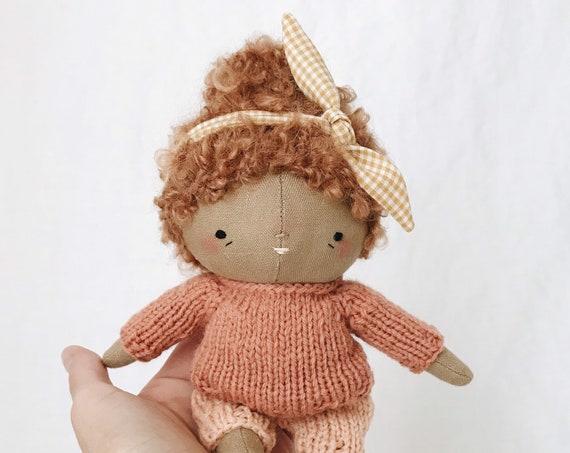 "handmade doll ""bea"" - heirloom doll, cloth doll, toddler doll, little girl doll"