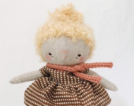 "handmade doll ""nan"" - heirloom doll, cloth doll, toddler doll, little girl doll"