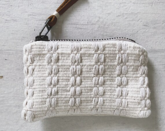 handwoven zipper pouch | coin purse