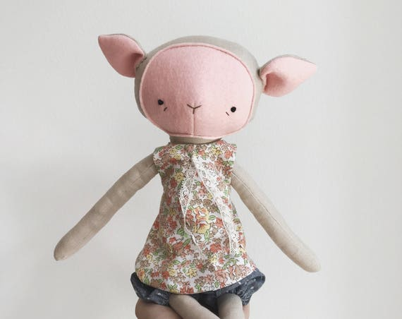 "SALE the foundlings | handmade cloth lamb doll | ""posie"""
