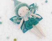 """fairy pip """"sky"""" - handmade fairy doll, pixie sprite, butterfly baby, heirloom doll"""