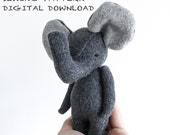 sewing pattern | the dear ones elephant | soft toy pdf pattern digital download