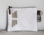 handwoven zipper pouch | floating stripes
