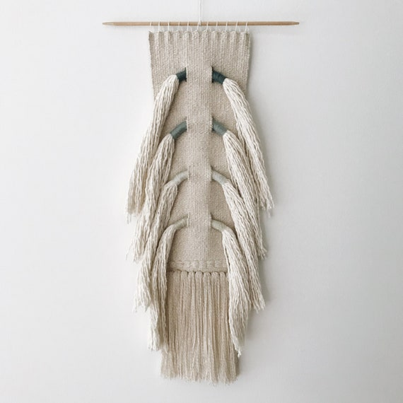 sea spine - hand woven wall hanging