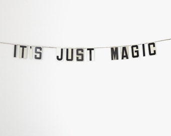 "it's just magic | vintage modern bunting | 3"""