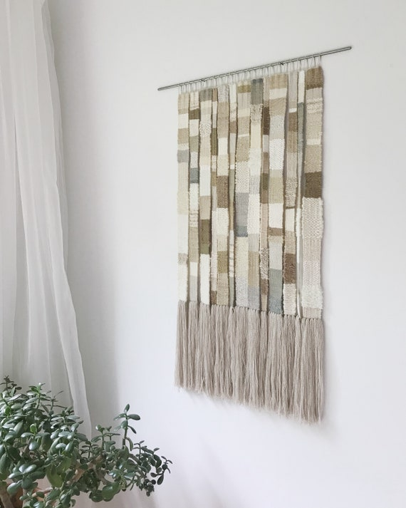 storylines - handwoven wallhanging   fiber art weaving