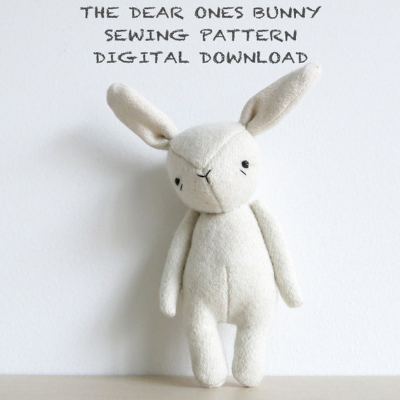 sewing pattern | the dear ones bunny | soft toy pdf pattern digital download