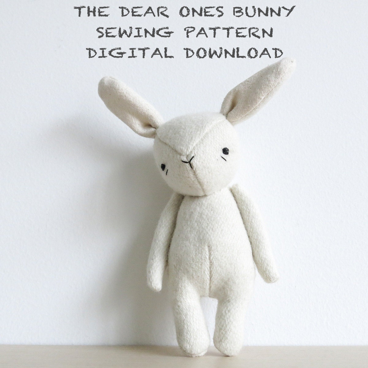 sewing pattern | the dear ones bunny | soft toy pdf pattern digital ...