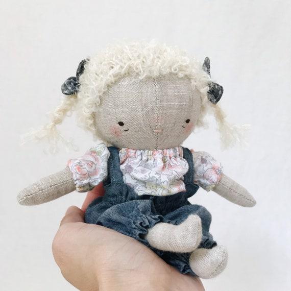 "handmade doll ""evie"" - fabric doll, toddler doll, little girl doll, heirloom doll"
