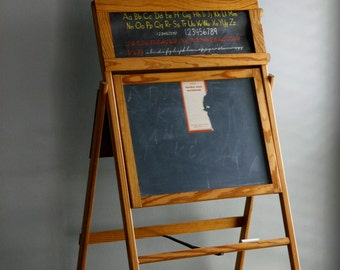 slate chalkboard easel