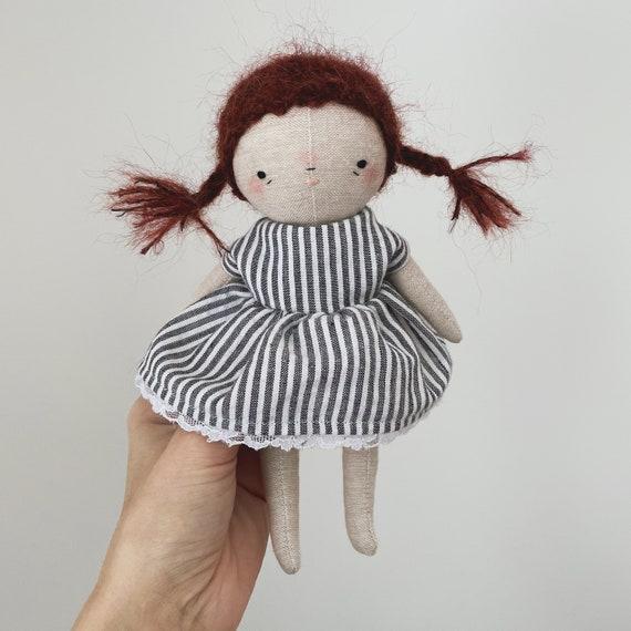 "handmade doll ""molly"" - heirloom doll, cloth doll, toddler doll, little girl doll"