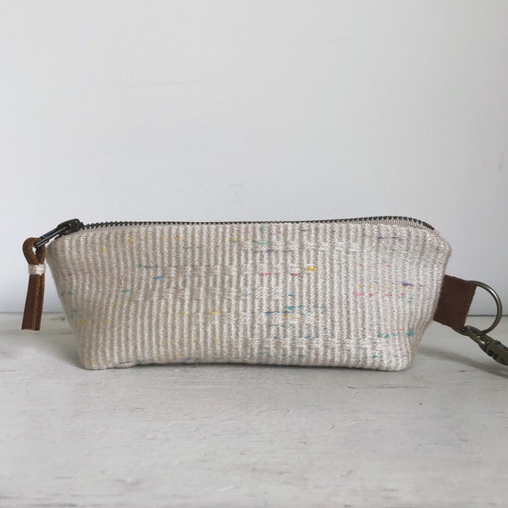handwoven zipper pouch | confetti pencil case