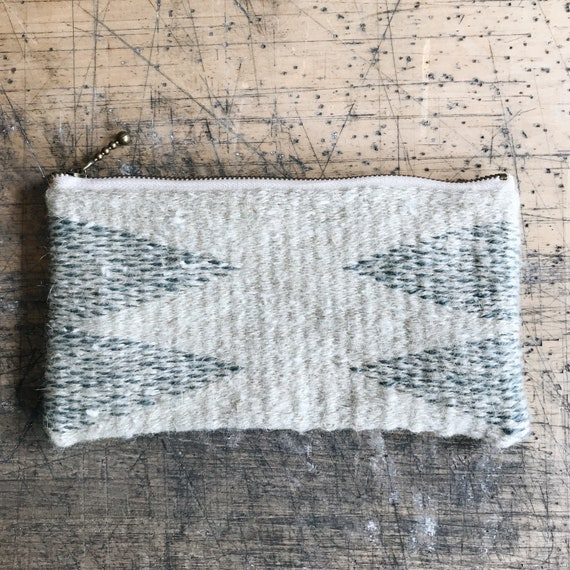 four arrows - handwoven tapestry zipper pouch