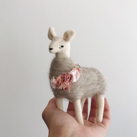 tiny alpaca ornament prototype | soft sculpture animal