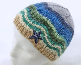 Science March Ocean Beanie knitting pattern
