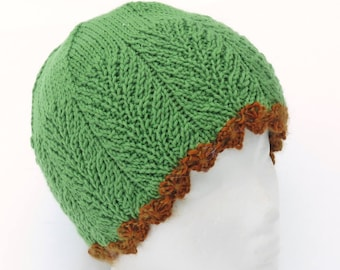 Science March Meadow Beanie knitting pattern