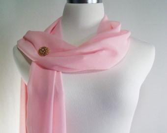SALE Wedding Scarf - Light Pink Bridal Scarf -  Bridesmaid Scarf