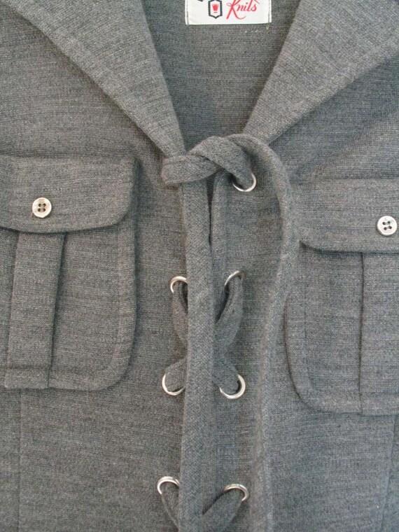 Polyester Double Knit Pant Suit Womens Vintage 60s