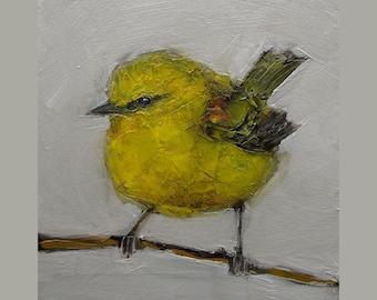 ONE FREE!!!  25% off sale Four Prints of Yellow Warbler BIRD Birds Colette W. Davis 4x4 Art Giclee print