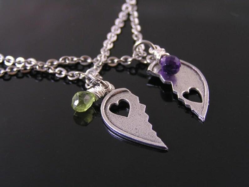 Matching Couple Necklace Boyfriend Girlfriend Jewelry Half ...