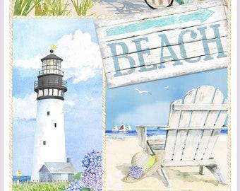 Coastal Paradise Panel Q1498P-11 Henry Glass Cotton Quilt Fabric