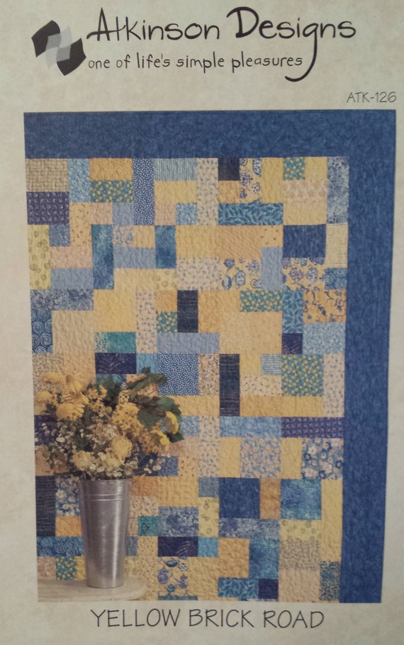 Yellow Brick Road Quilt Pattern By Atkinson Designsfree Etsy