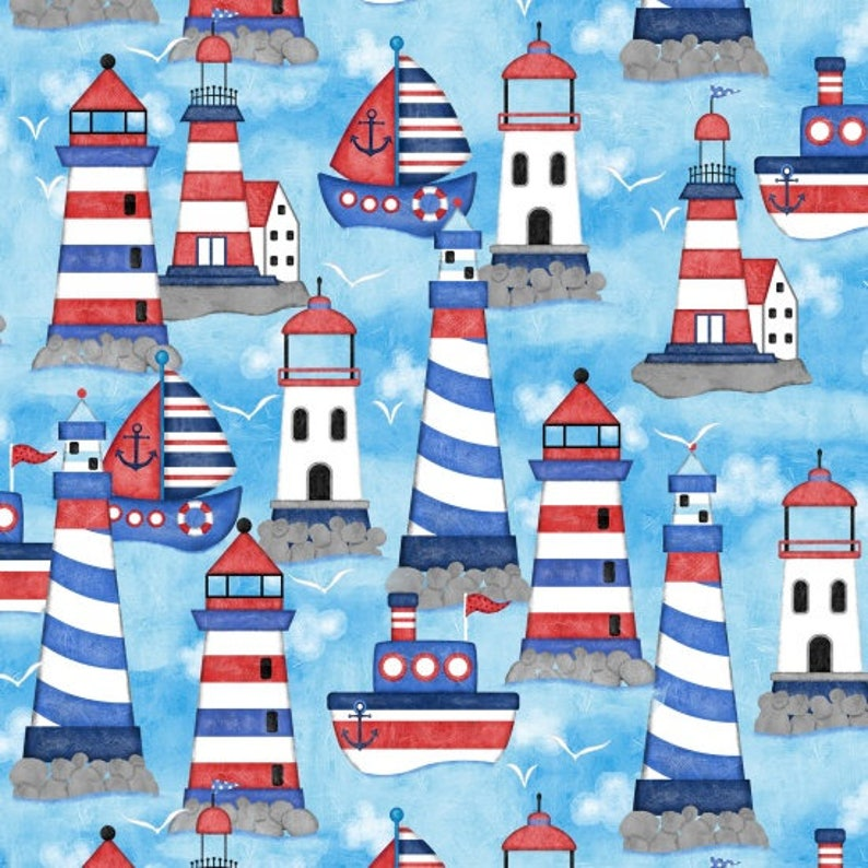 Coastal Indigo Cotton Quilt Fabric Studio E Panel E3990-77