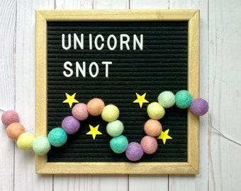 Rainbow pom pom garland kit, rainbow pom pom garland, craft kit, DIY felt pom pom garland, craft kit for kids, rainbow decoration, playroom