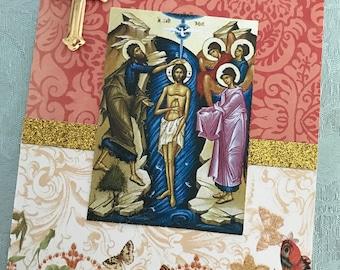 Orthodox Baptism Card