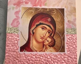Virgin Mary Orthodox Card