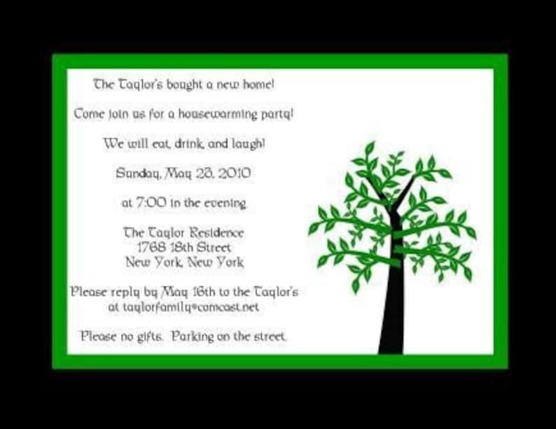 Tree Full of Leaves Invitations