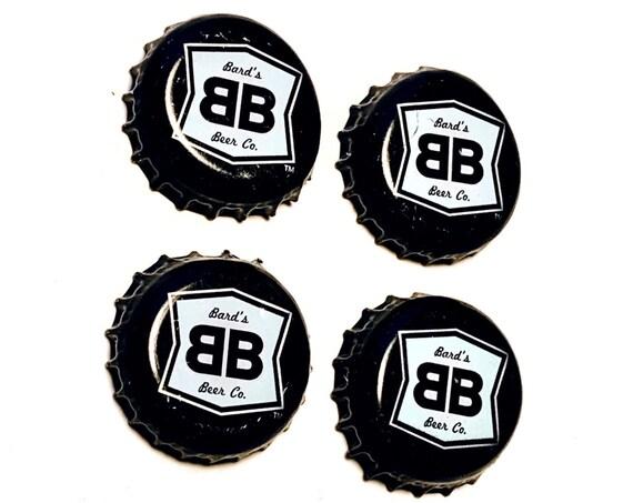 Bards Beer Magnet Set, Bards Gluten Free Beer Magnets, Gluten Free Beer Magnets, Set of Four, File Cabinet Magnet, Refrigerator Magnets