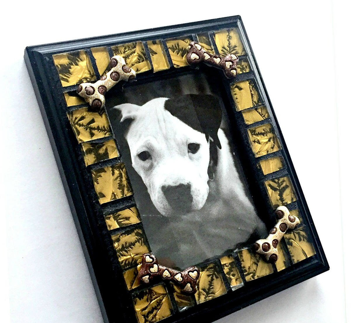 Dog Bone Mosaic Frame Small Photo Frame Glass Tile Mosaic Frame