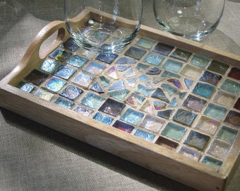 Beach Glass Mosaic Tray