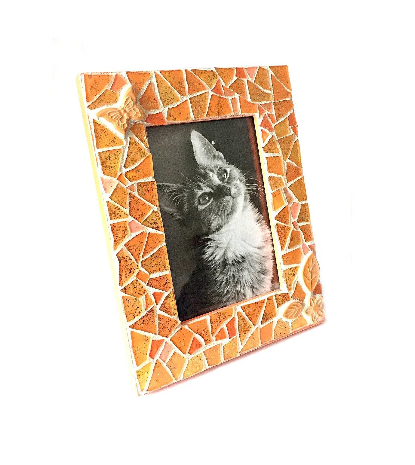 85446e0fd32 Orange Mosaic Photo Frame