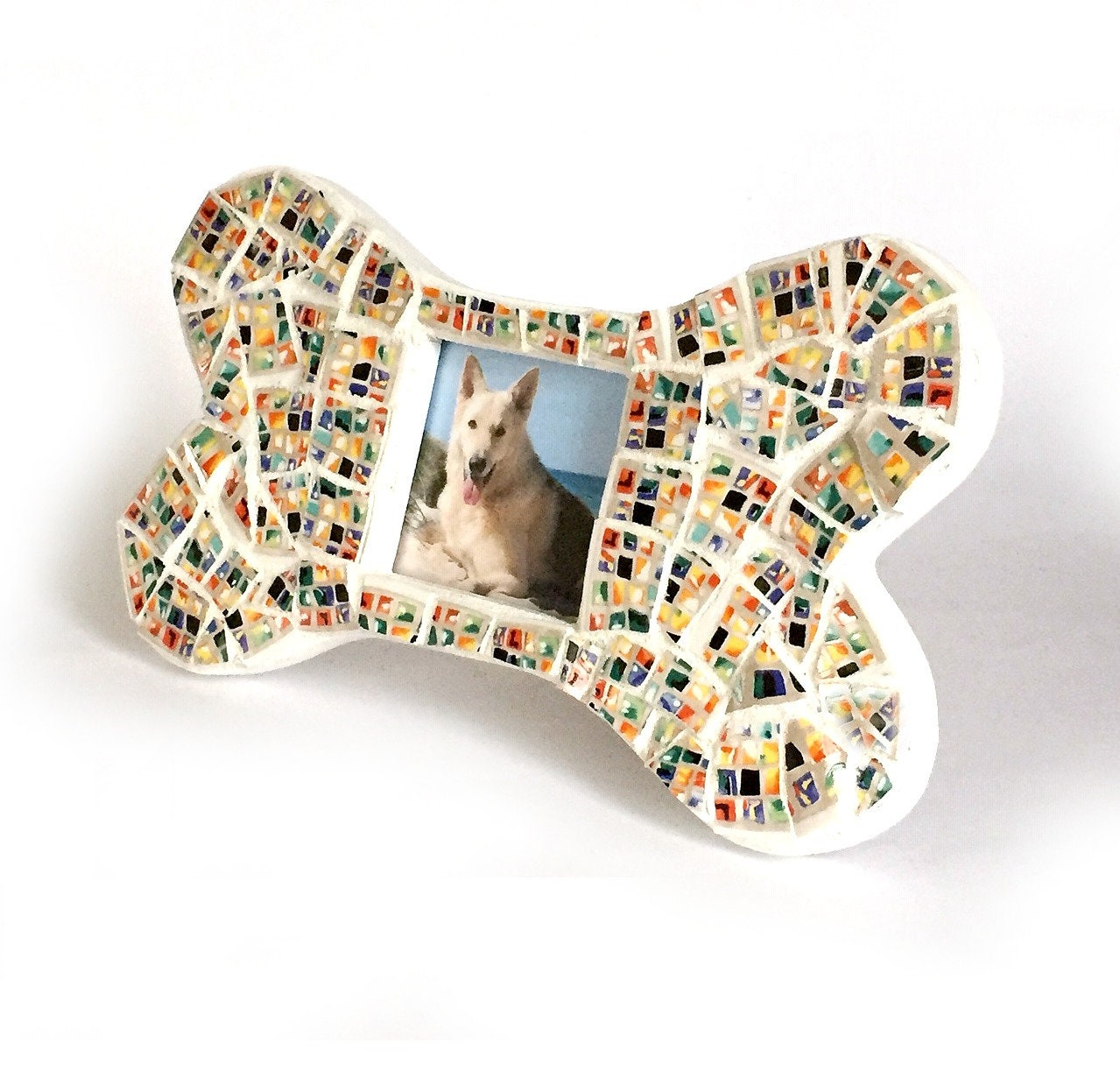 Bone Shaped Mosaic Frame Frame For Dogs White Bone Frame Mosaic