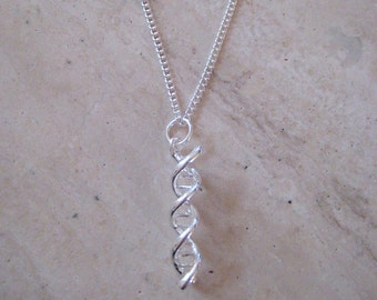 DNA Necklace -  Double Helix, Genetics Science Necklace -  Science Jewelry - Chemistry Gift - Chemistry Jewelry - Layering Necklace
