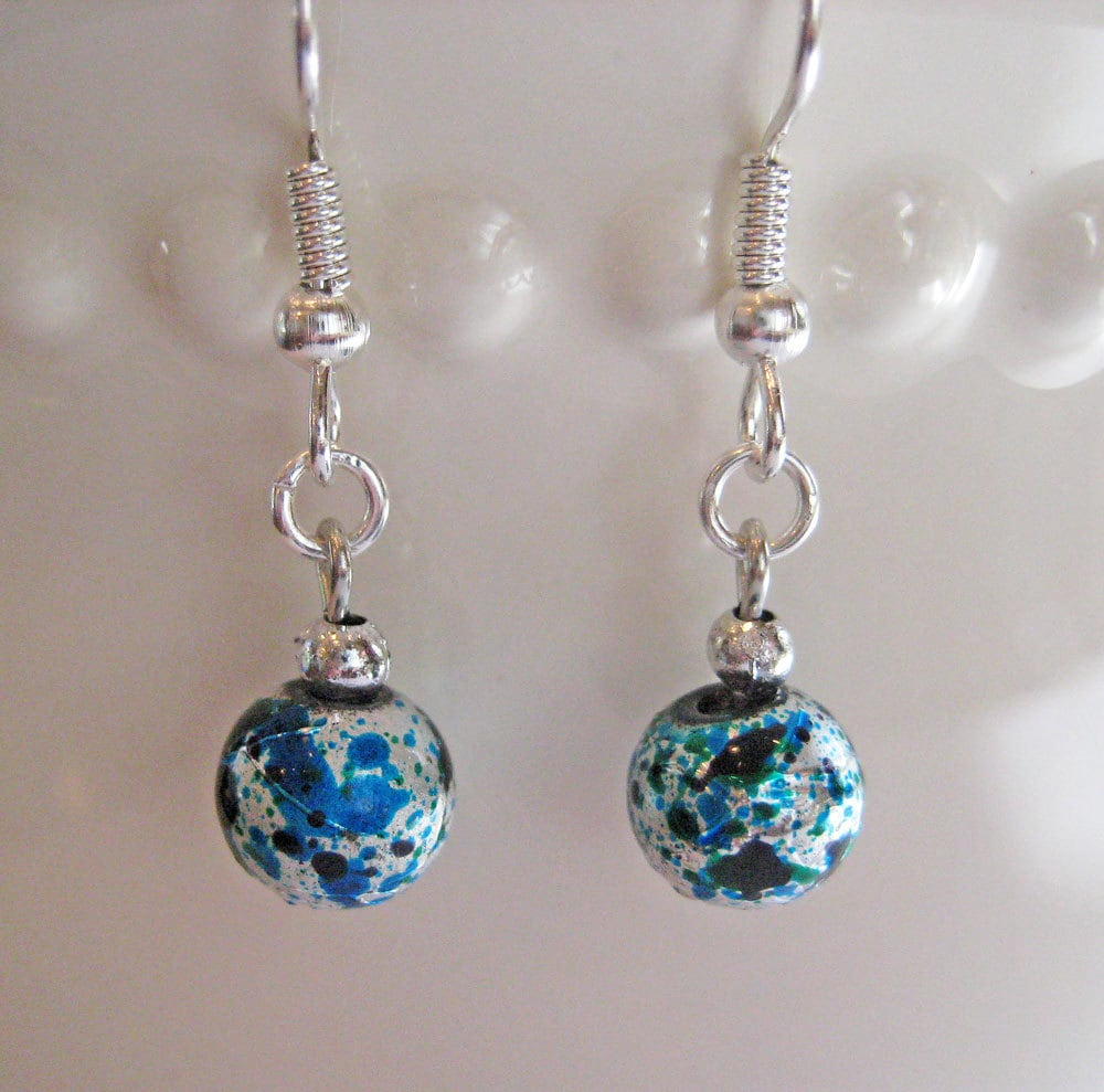 Christmas Ornament Earrings Old Fashioned Foil Ornaments